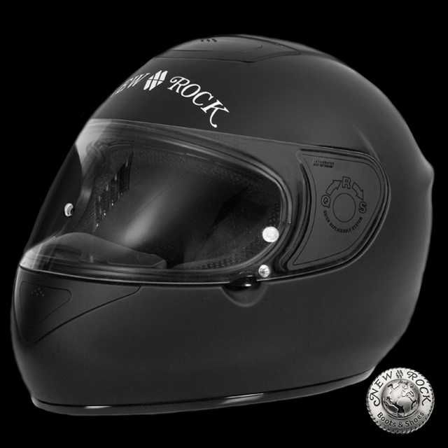 Casque de Moto New Rock 'Black Integral' (HELMET020-S1)