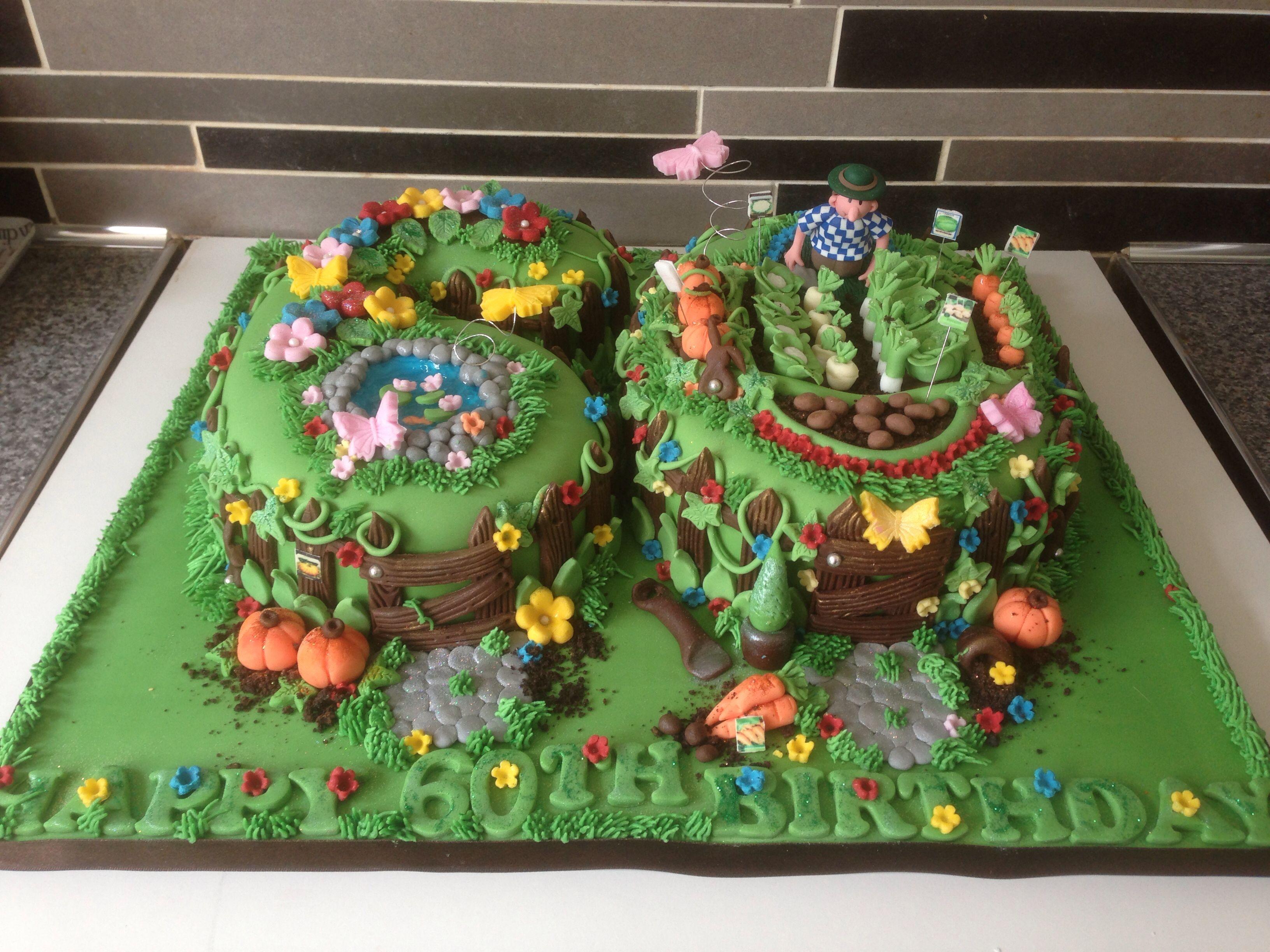 60th Garden Cake by Jodalicious Cupcakes   Jodalicious Cakes and ...