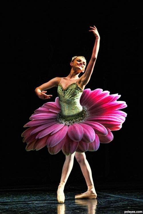samieballerina: itsalwaysbreezy: beautiful flower tutu saw this on fb arlier
