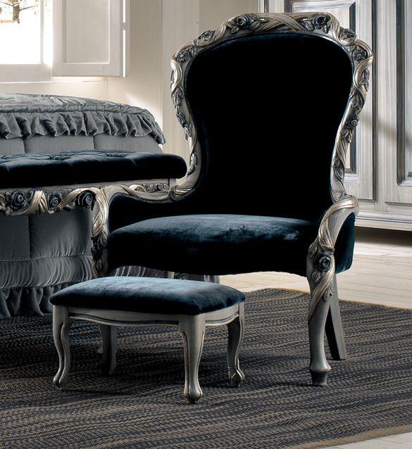 Luxury Italian ladies bedroom chair