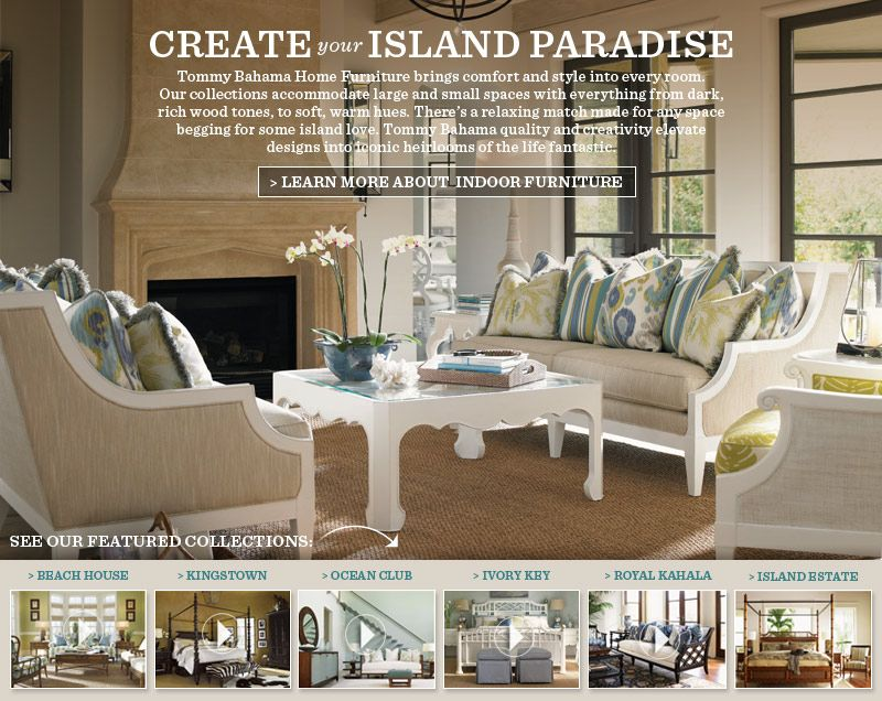 Designer Furniture  Home Decor Furniture  Tommy Bahama Furniture