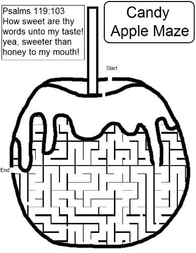 Candy Apple Maze Sunday School Lessons School Lessons Sunday School Kids