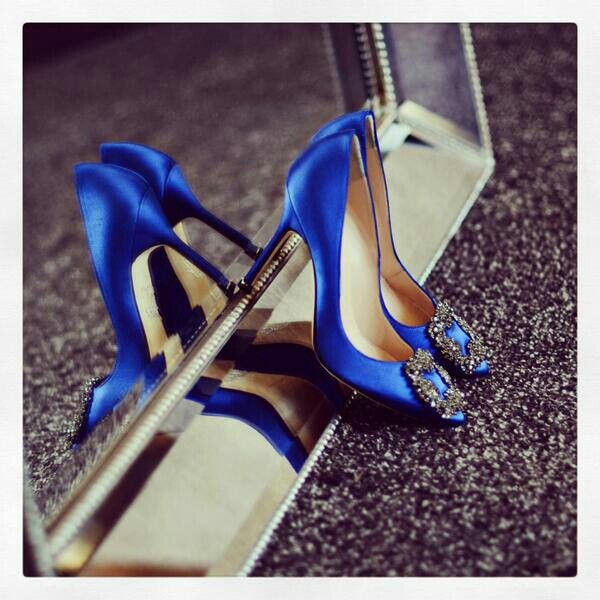 zapatos azules de sex and the city in High Point