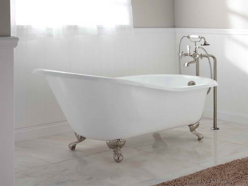 Standard Bathtub Size Cast Iron Slipper Tub Http Lanewstalk