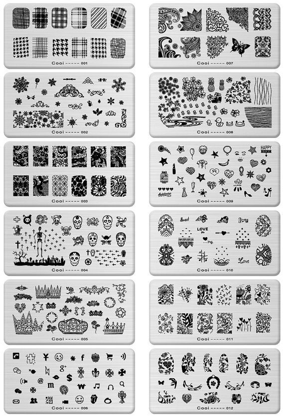 Stamping Nail Art Steel Konad Plates Stamp by HighClassNailsss ...