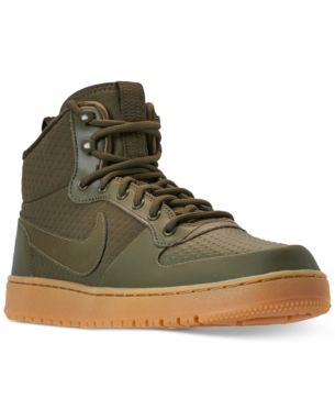 Nike Men S Ebernon Mid Winter Casual Sneakers From Finish Line Green 9 Casual Sneakers Nike Men Nike Shoes Air Max