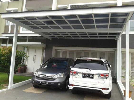 15 Model Garasi Mobil Minimalis Untuk Rumah Kecil Dan Mewah Di 2021 Rumah Minimalis Desain Patio