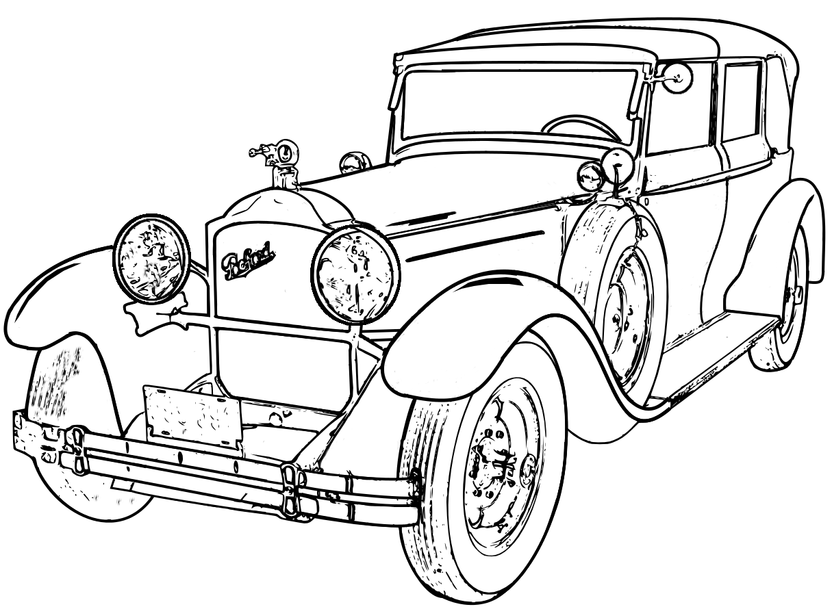 detailed line drawings classic cars - Google Search | Adult Coloring ...