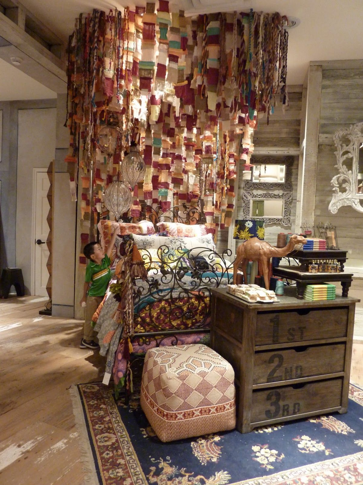 Bohemian Bettwäsche Fabric Scraps Anthropologie Display As Art Displays