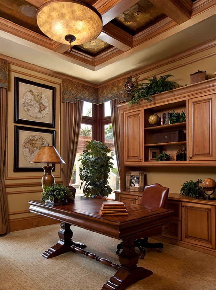 Home Design Ideas Buch: Custom Brown Leather Chairs For Traditional Executive