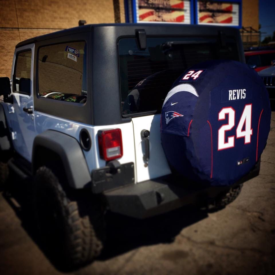 Patriots Custom Made Spare Tire Covers Www Sparejerseys Com Spare Tire Covers Tire Cover Custom Tire Covers