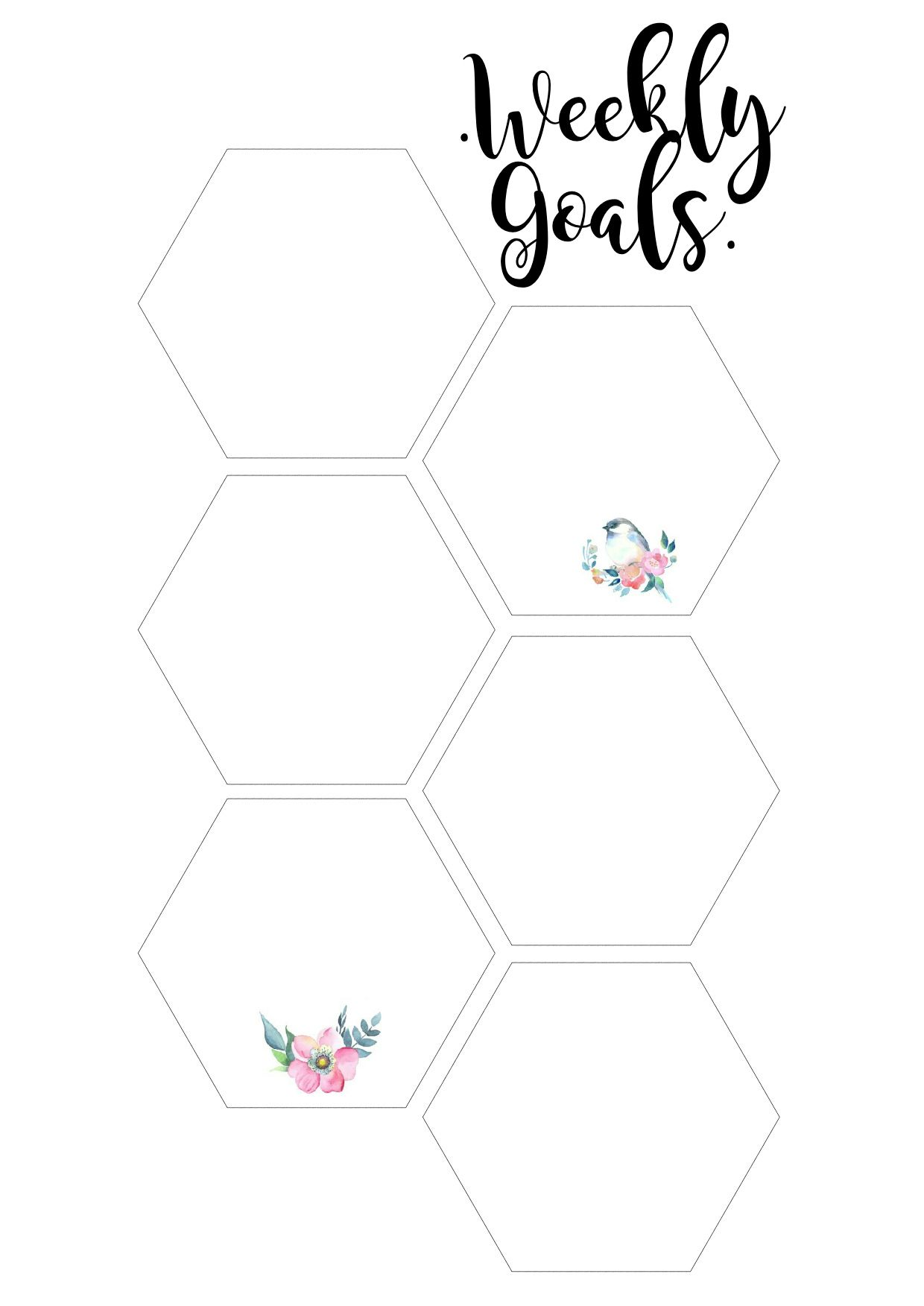 Weekly Goals Amp To Do List For Your Planner