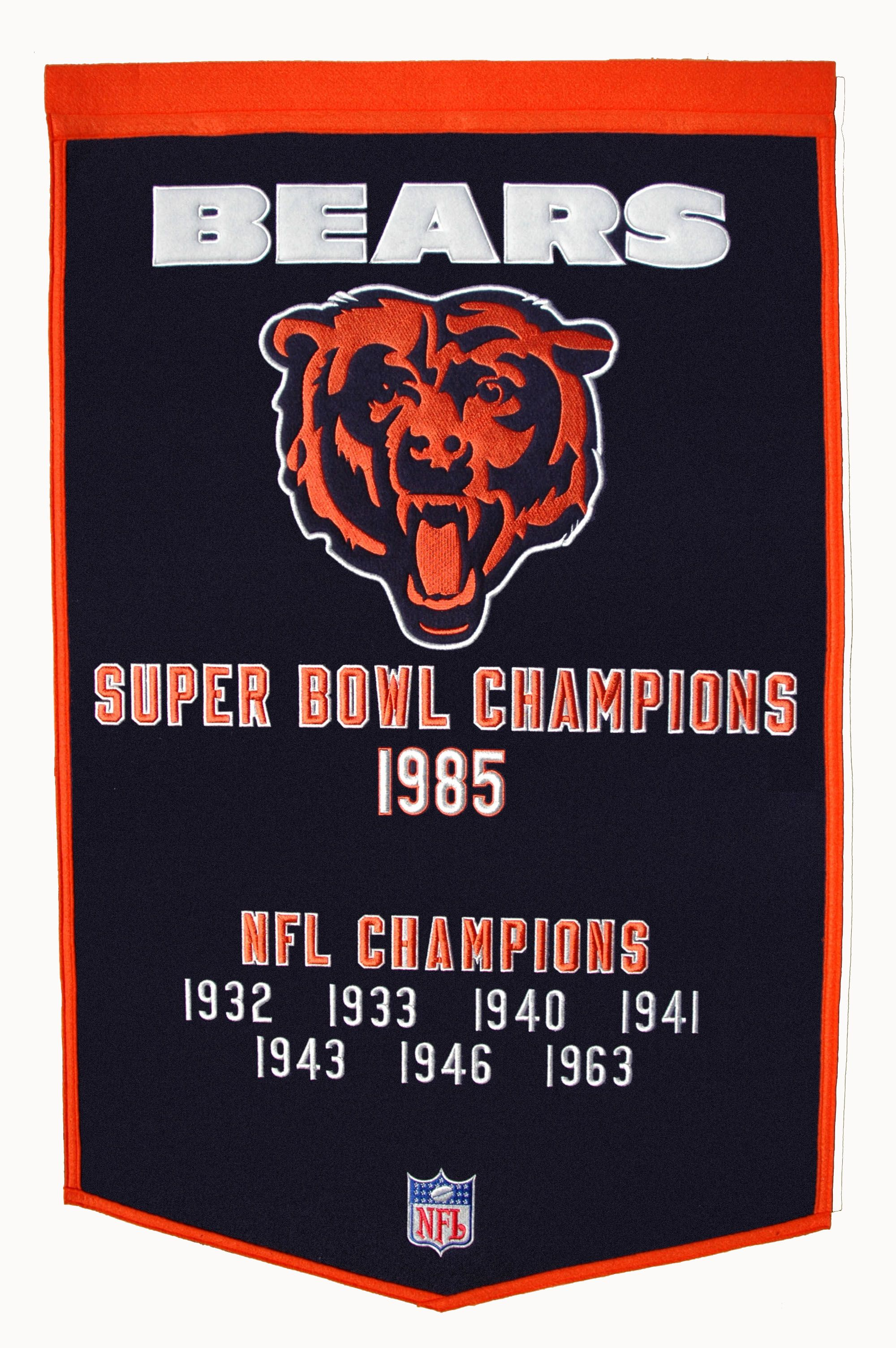 timeless design 074a8 9c587 Bears Banner with our Championships