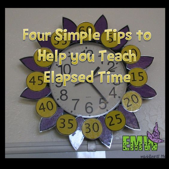 Helpful tips for teaching time, and a freebie!