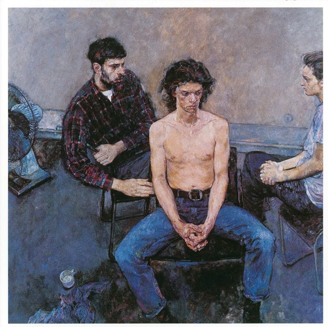 Three Seated Figures Justin Mortimer 1991