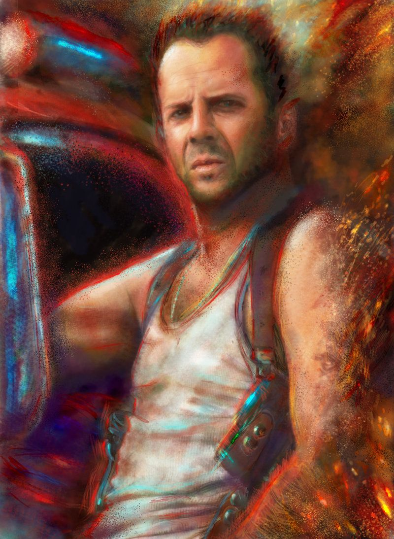 91a679a9eadfe Tough Bruce Willis by ~Ururuty on deviantART  Art  CelebrityArt ...