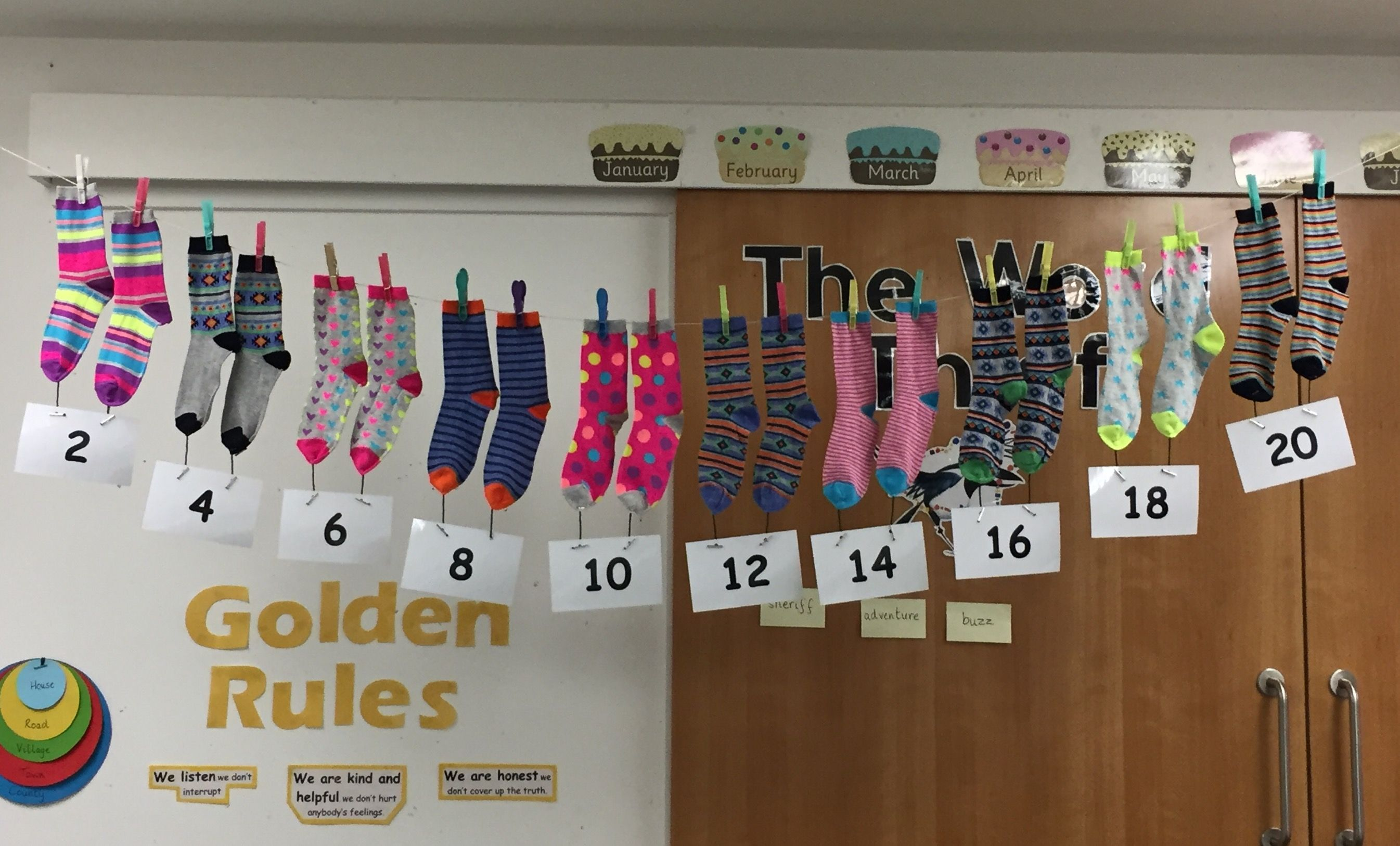 Counting By 2 S Using Socks