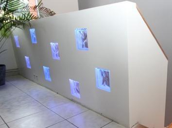 garde corps avec briques de verre clair es par ptitflo. Black Bedroom Furniture Sets. Home Design Ideas
