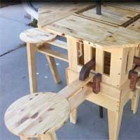 the eizzy folding table is a folding patio table pdf plan