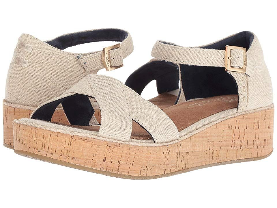 TOMS Harper Natural Hemp Womens Sandals With every pair of shoes you purchase TOMS will give a new pair of shoes to a child in need One for One The casually chic style of...