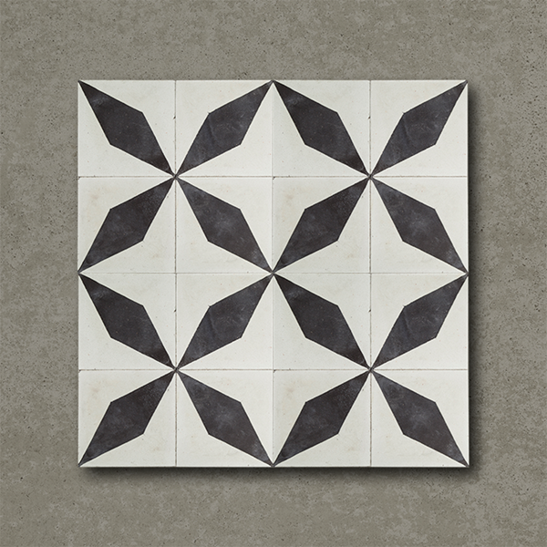 Black Diamond Handmade Encaustic Cement Floor Tile   Otto Tiles & Design   Encaustic, Moroccan ...