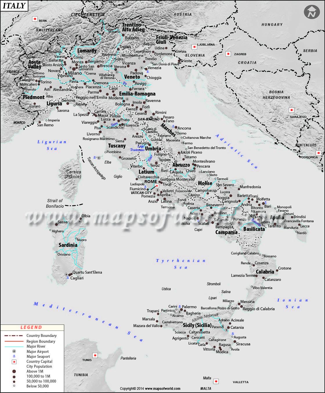 Forli Italy Map.Map Of Italy Europe Pinterest Italy