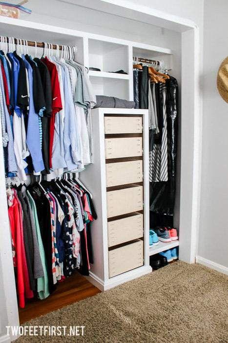 Building Drawers For Closet Closet Drawers Build A Closet Diy Closet System