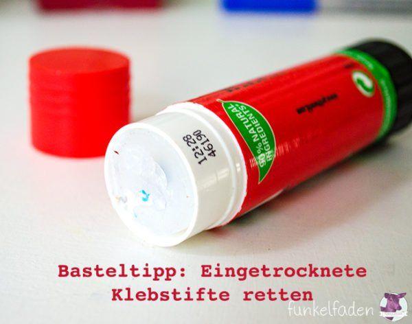 Eingetrockneten Klebstift Retten Tipps Stifte Und Tipps Und Tricks