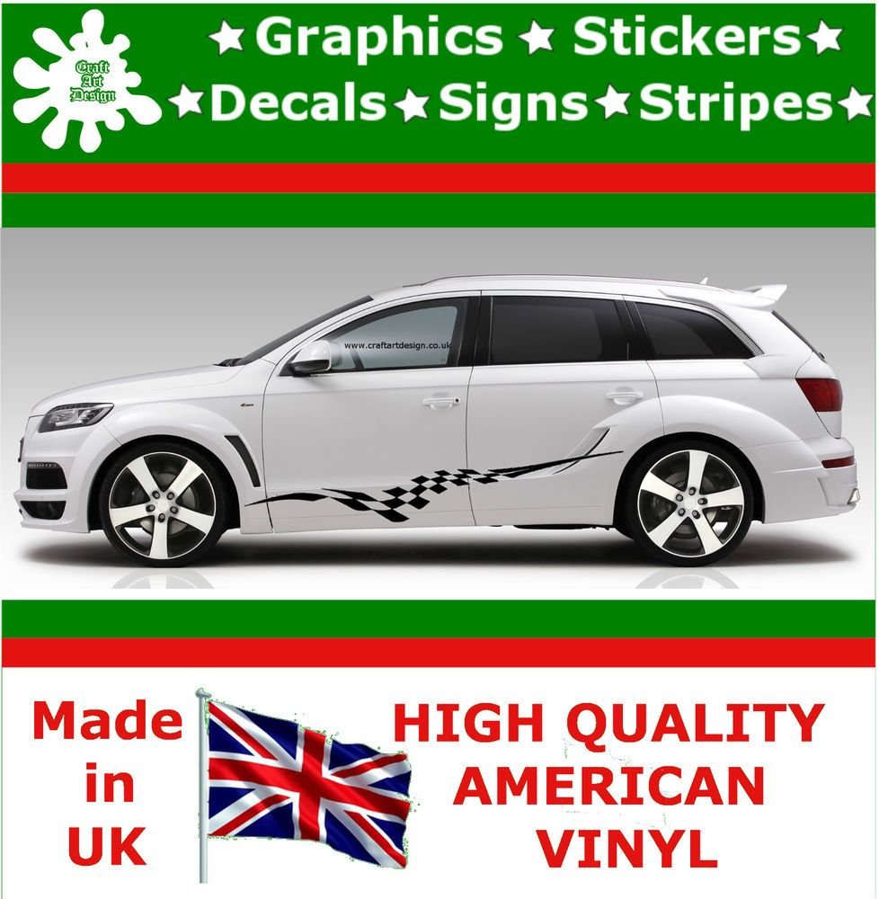 Audi Car Racing Stripes Sticker Art Set Vinyl Graphics Decal Auto - Decal graphics for cars