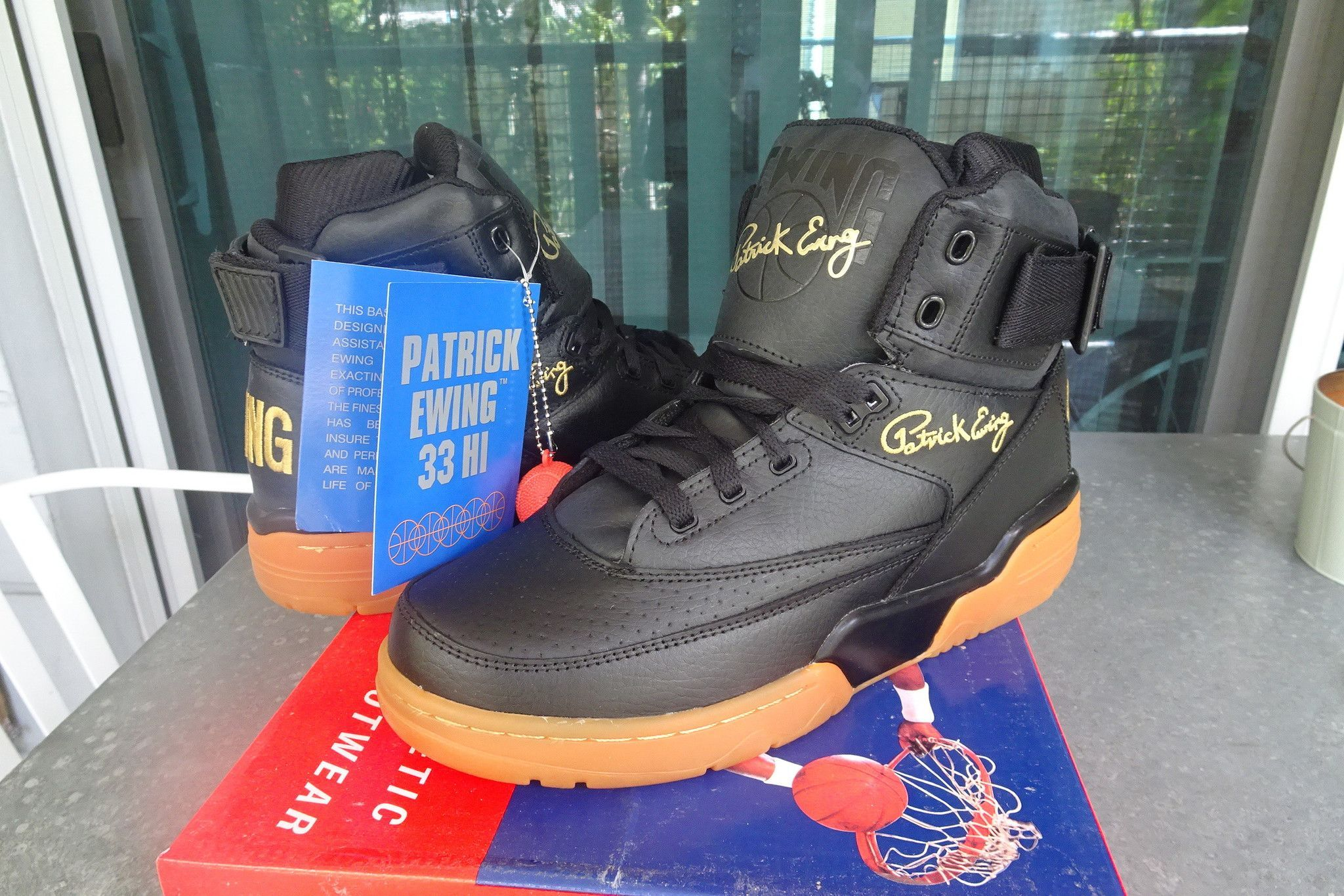 4939876e84 Ewing Athletics Concept 33 HI Black Gum Gold Limited release Mens Ref  1EW90124-046