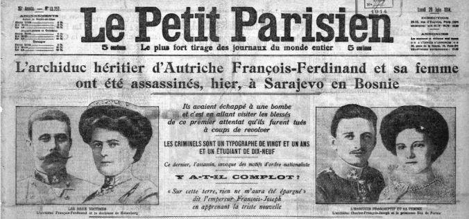 28 Juin 1914 L Assassinat De L Archiduc Ferdinand D Autriche Par Hasard Ou Presque Le 11 Novembre Tombe Du Soldat Inconnu Traite De Versailles