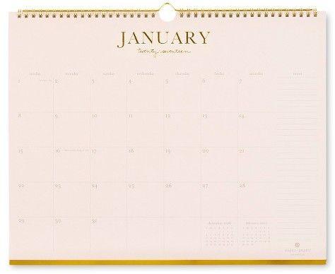 Sugar Paper® Wall Calendar, 2017 - Blush