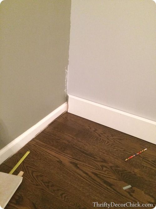 How To Install New Baseboards Without Removing The Old