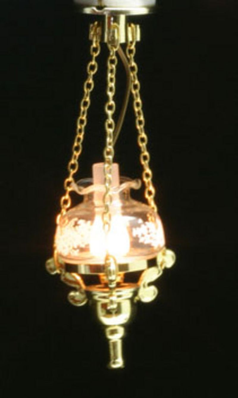 Hanging Ceiling Lamp By Miniature House Dollhouses And More Hanging Ceiling Lamps Ceiling Lamp Dollhouse Lighting