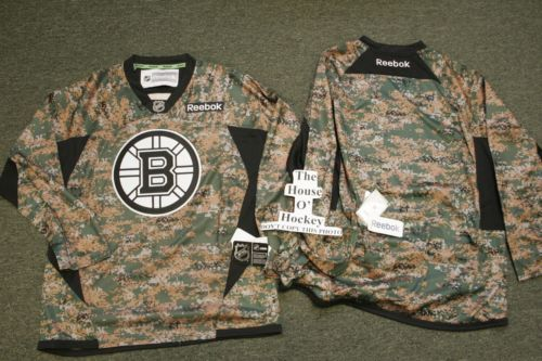 088dc691d BOSTON BRUINS CAMOUFLAGE REEBOK PREMIER NHL ICE HOCKEY JERSEY X-LARGE NEW  2013 FREE POSTAGE! BE THE FIRST TO OWN THIS JERSEY IN YOUR AREA!