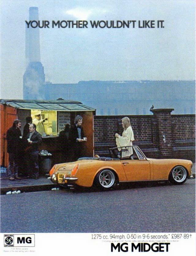 1980 MG Midget ad#2 | Mg midget, Car design, Fun