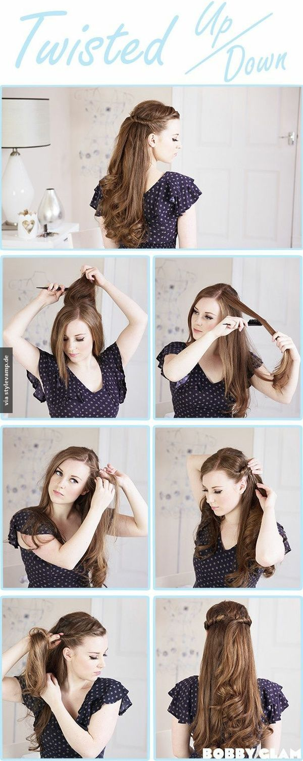 Twisted up down make up and beauty pinterest hair style