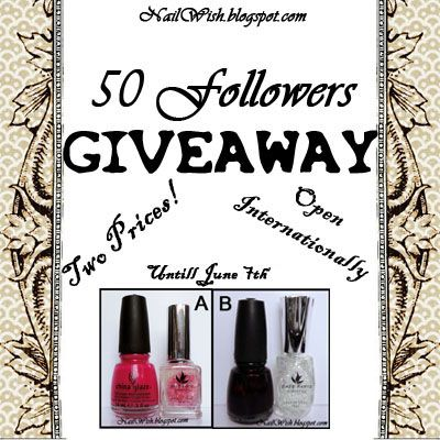 Nail Wish: 50 Followers Giveaway!!