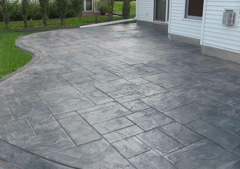 Concrete Patios Custom And Stamped Concrete Buchheit - Poured concrete patio