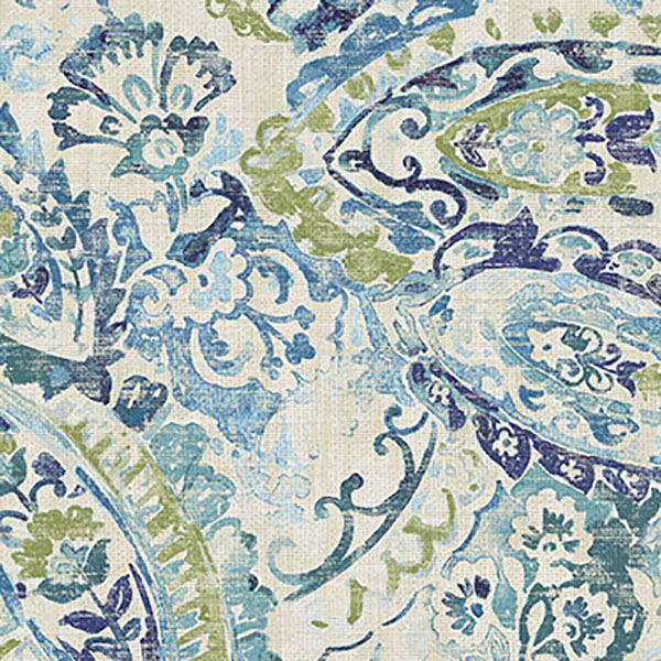 Beautiful Green And Blue Drapery Fabric By Belle Maison This Modern Is A Fun Watercolor Look Paisley Perfect For Any Home Decorating