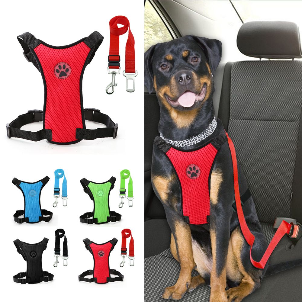 Safety Vehicle Car Harness With Adjustable Straps Dog Walking