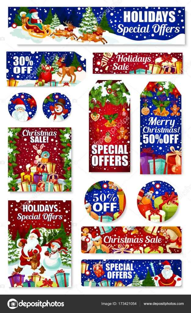 Christmas Holiday Gift Sale And Discount Offer Tag Stock Illustration In 2020 Holiday Christmas Gifts Free Christmas Gifts Christmas Gift Sale