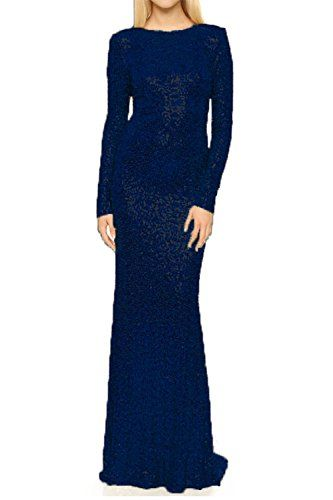 732503127420 Honey Qiao Modest Bridesmaid Dresses Long Sleeves High Back Prom party Gowns