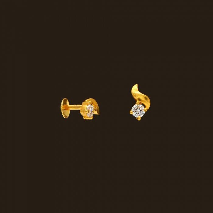 Gold Baby Earrings 108a44760 Vummidi Bangaru Jewellers