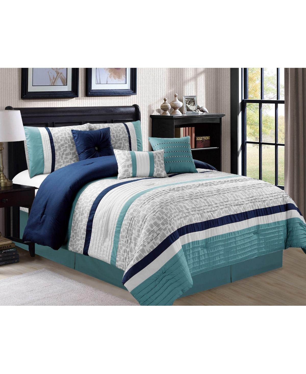 Luxlen Hunley 7 Piece Comforter Set, Cal King & Reviews
