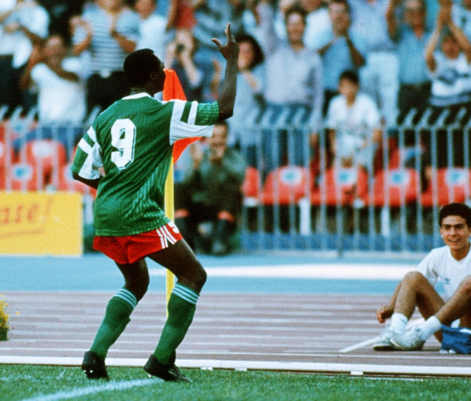 Image result for cameroon rumania 1990