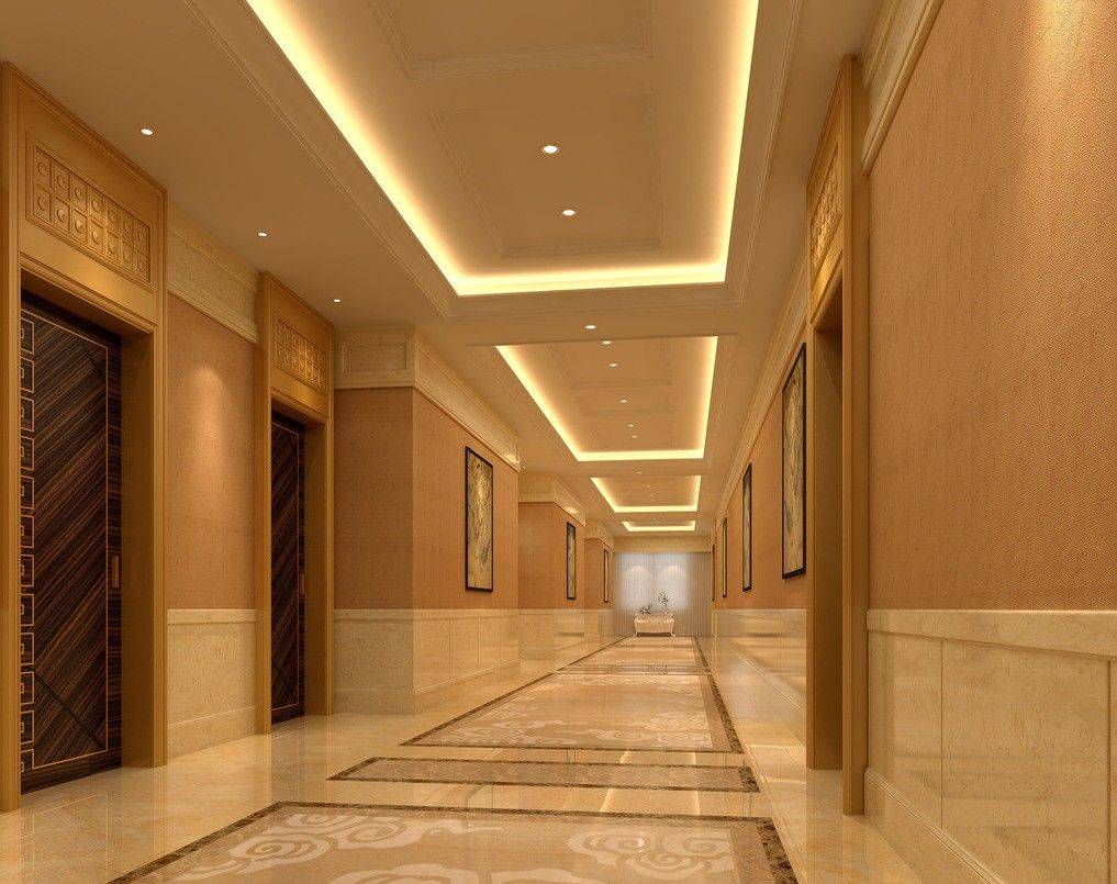 Hallway floor tiles in hotel | Light Fixtures | Pinterest ...