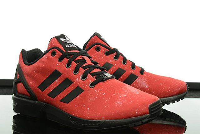 adidas zx flux red black