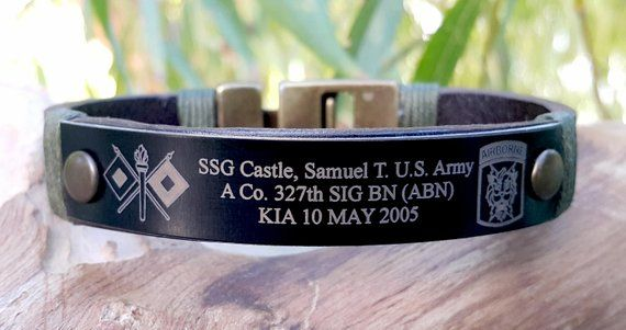 Custom Military Bracelet Kia Remembrance Army In Loving Memory Loss Of Child Loved One Honor The Fallen