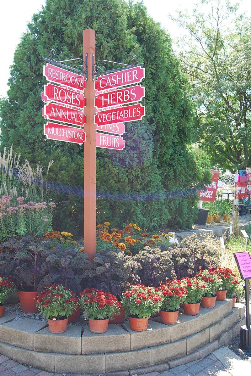 Signage Lawn Garden Retailer Center Ideas